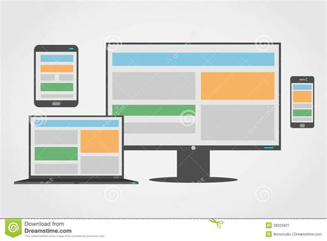responsive design icon vector responsive design icon flat isolated cartoon vector