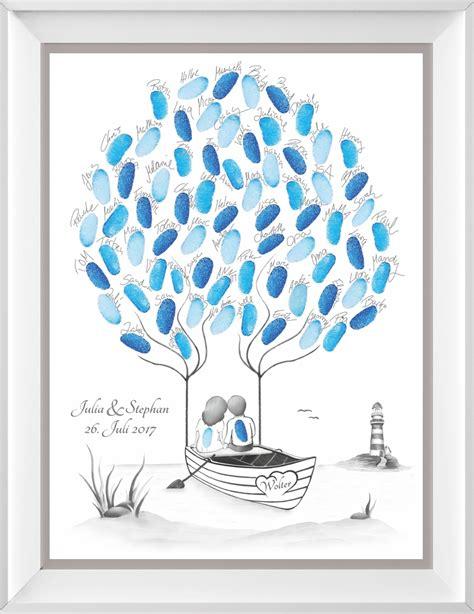 Wedding Tree by Fingerabdruck Baum Wedding Tree Zur Hochzeit