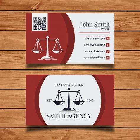 attorney at business card template lawyer business card template vector free