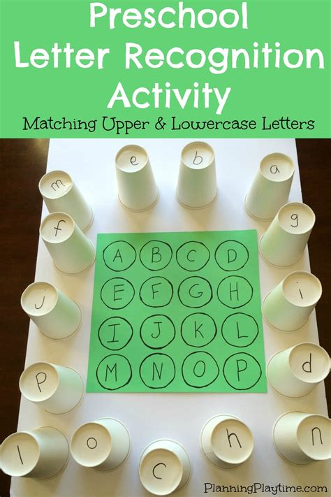 Letter Recognition Worksheets by Preschool Letter Recognition Activities Planning Playtime