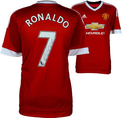 manchester united official soccer jerseys official soccer cristiano ronaldo manchester united autographed red jersey