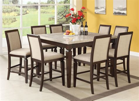 Marble Top Rectangular Dining Table Acme Agatha White Marble Top Rectangular Dining Table In Espresso 70480