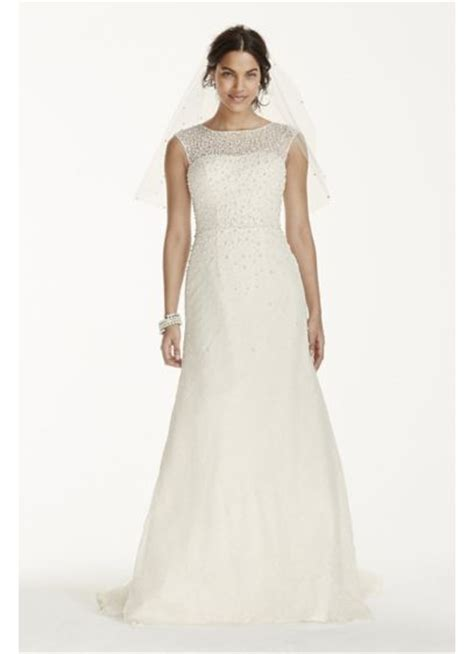 Wedding Dresses Cap Sleeves by Cap Sleeve Wedding Dress With Pearl Details David