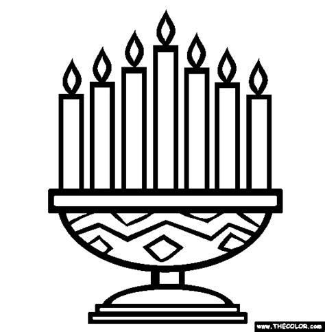Coloring Pages For Kwanzaa Candle Holder | online coloring pages starting with the letter c