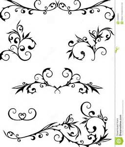 Decorative Swirls Curls Stock Photos Image 24898663