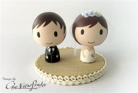 Handmade Cake Topper - adorable wedding cake toppers handmade wedding etsy 3