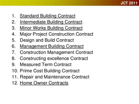 jct design and build contract template building contracts and cdm regulations