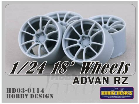 Advan 9 Inch 1 24 18 inch wheels advan rz by hobby design hobbylink japan