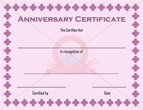 11 Best Anniversary Certificate Images On Pinterest Adoption Certificate Certificate Wedding Anniversary Certificate Template