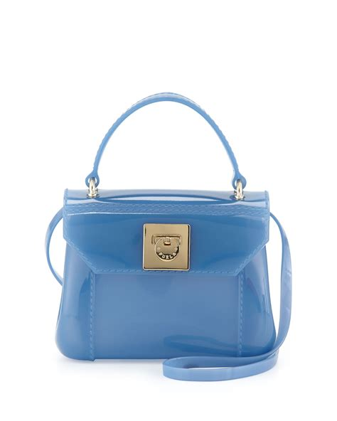 Mini Furla furla bon bon mini crossbody bag in blue null lyst