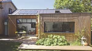 extension en bois toit plat