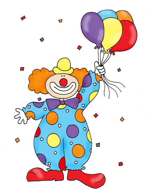 clown colors clown with balloons color and b w cbs year 1