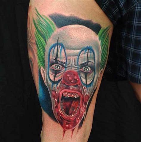 tattoo 3d clown 3d like colored bloody evil clown tattoo tattooimages biz