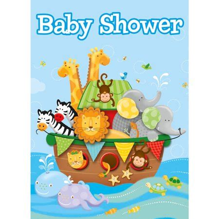 Walmart Baby Shower Themes by Noah S Ark Baby Shower Invitations 8 Count Walmart