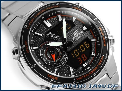 Casio Edifice Efa 100 By I2y Store casio edifice analog digital 100m efa131d 1a4 efa 131d 1a4