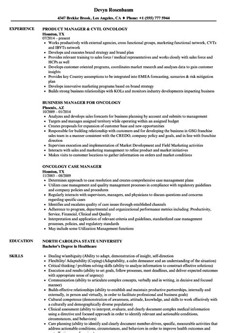 Oncology Resume by Oncology Manager Resume Sles Velvet