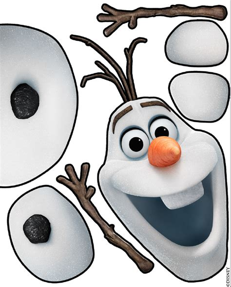 frozen olaf the snowman disney character face olaf face clipart 32