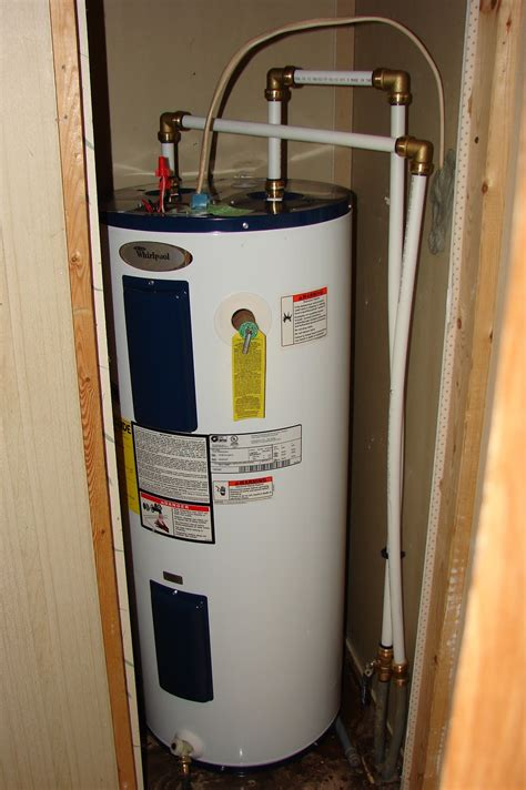 My Commentary and Technical help: Replacing a mobile home water heater with a normal one.