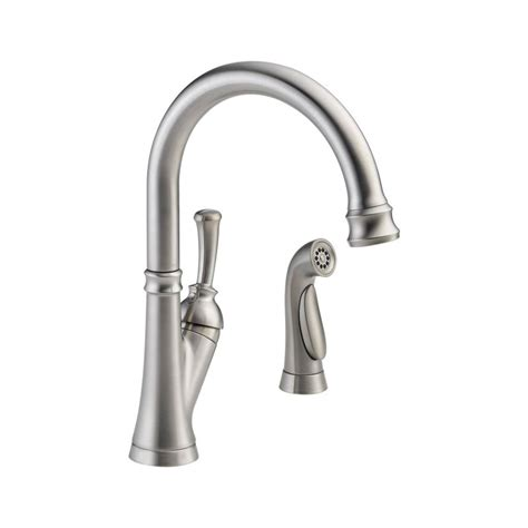 delta savile kitchen faucet faucet com 11949 ss dst in brilliance stainless by delta