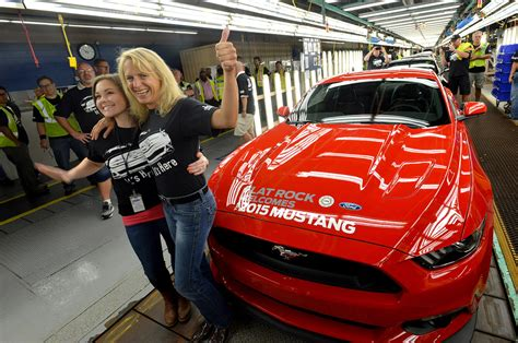 when did they start mustangs ford started 2015 mustang production amcarguide