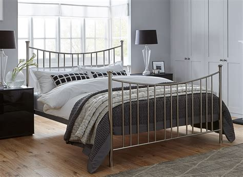 ward silver metal bed frame dreams