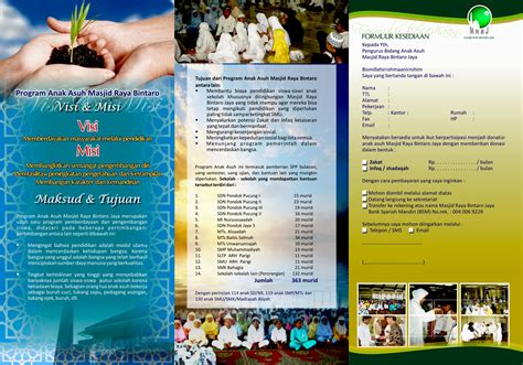 desain brosur motor jasa desain desain brosur masjid raya bintaro jaya by