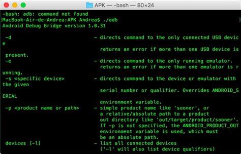 android shell comandos adb android