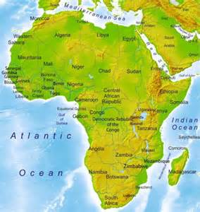 Map Of Africa Physical Features by Gallery For Gt Physical Features Map Of Africa