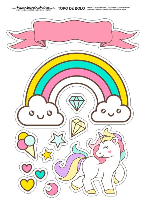 printable unicorn cake toppers unicorns party free printable cake toppers oh my