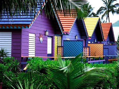 colorful homes colorful houses bahamas wallpapers hd wallpapers id 1479