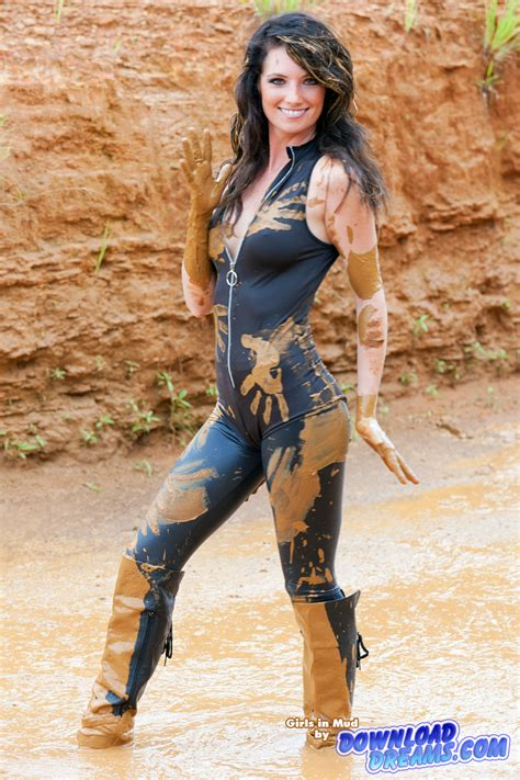 Shiny Spandex Girl In Mud | shiny spandex girl in mud 14 00 min from shallow to
