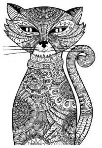 free coloring pages for cat coloring pages for adults bestofcoloring