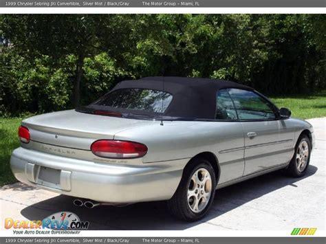 1999 Chrysler Sebring by 1999 Chrysler Sebring Jxi Convertible Silver Mist Black