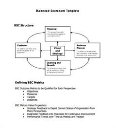 Balanced Scorecard Templates by Doc 585588 Scorecard Template Balanced Scorecard