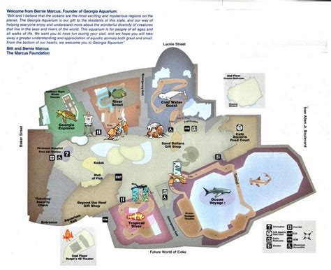 georgia aquarium floor plan atlanta aquarium map georgia aquarium map united states