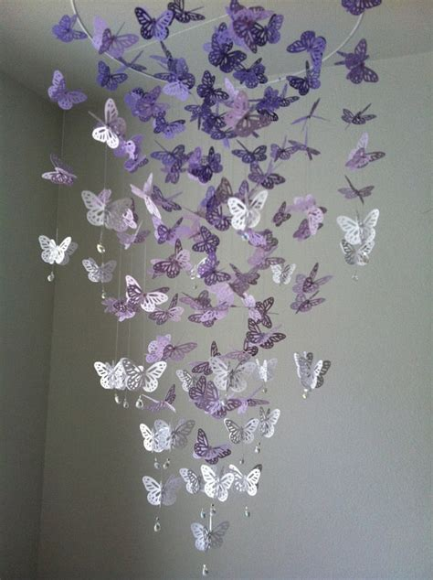 how to make butterfly chandelier butterfly mobile chandelier mobile purple baby mobile