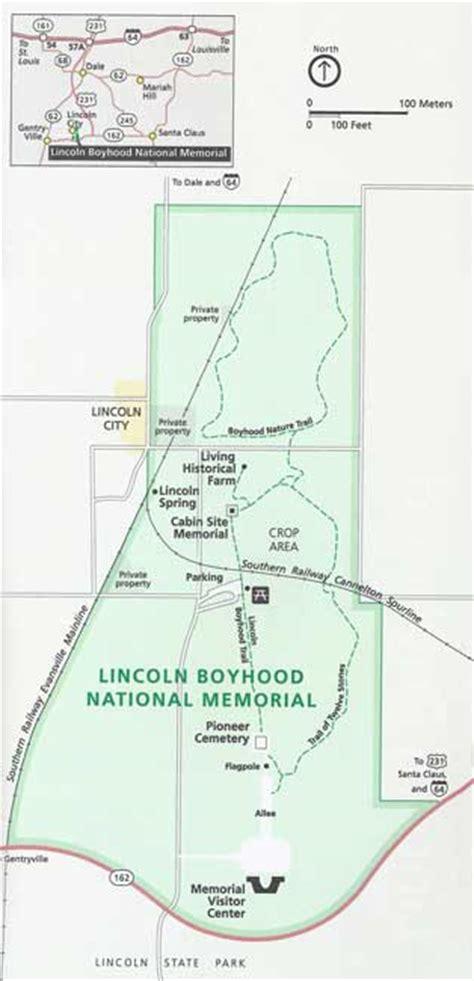 plan your visit lincoln boyhood maps lincoln boyhood national memorial u s national