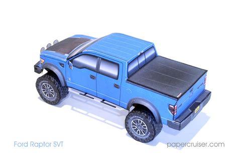 New Papercruiser Model Ford Raptor Svt Papercruiser Com Papercruiser S Paper Models Ford Raptor Template