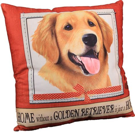 golden retriever pillow golden retriever pillow 16x16 polyester