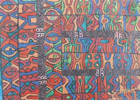 cultural pattern artist african pattern cultural mixed media painting title a