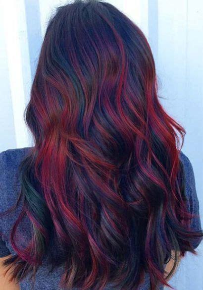 burgundy highlights on shag haircuts 55 dark brown purple burgundy hair color hairstyles
