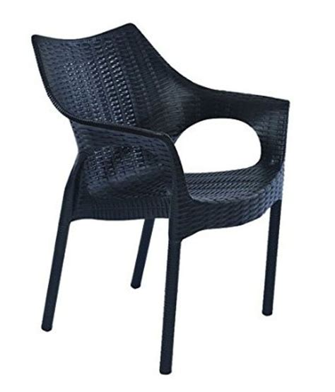 outdoor chair in black set of 4 buy at best