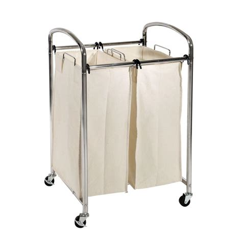 seville classics seville classics 2 bag laundry sorter cart in chrome