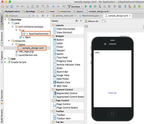 tutorial xcode 6 3 2 creating a ui using an apple xcode storyboard intel