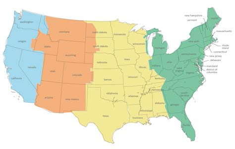 us map with states and timezones spaceport visual tour space adventure