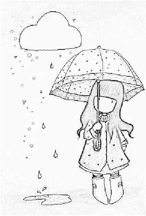 lluvia para colorear pintar im genes desenho de boneca gorjuss na chuva para colorir tudodesenhos
