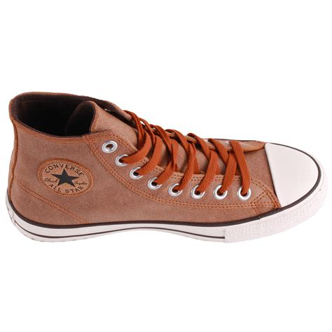 mens brown leather converse boots converse chuck vintage leather hi unisex boots