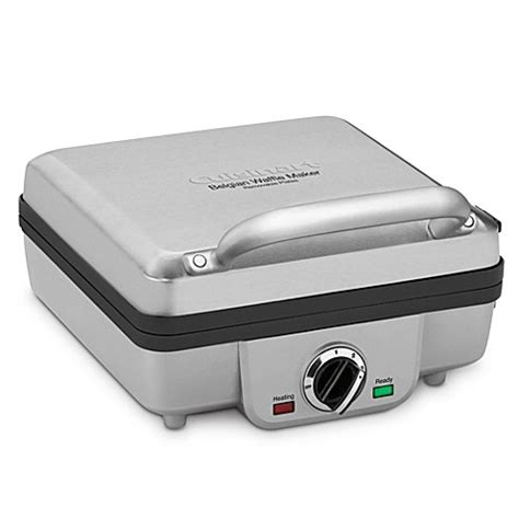 waffle maker bed bath and beyond buy cuisinart 174 4 slice belgian waffle maker with pancake