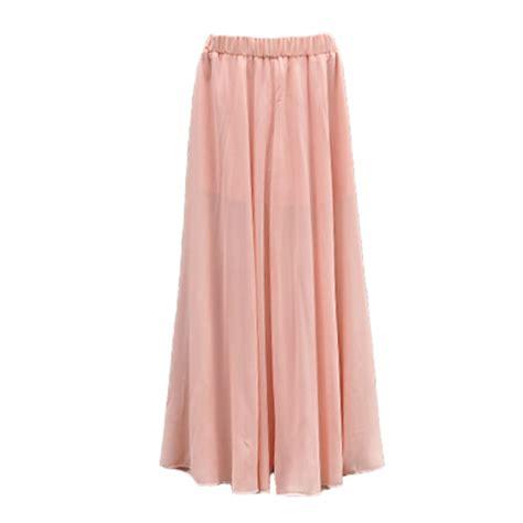 pink flowy sheer chiffon maxi skirt skort as seen in zara