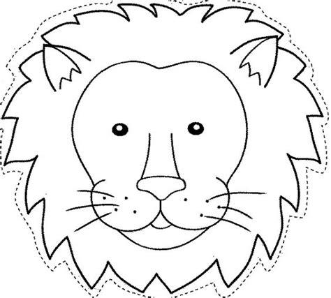 imagenes de leones para imprimir maestra de infantil caretas de animales para colorear e